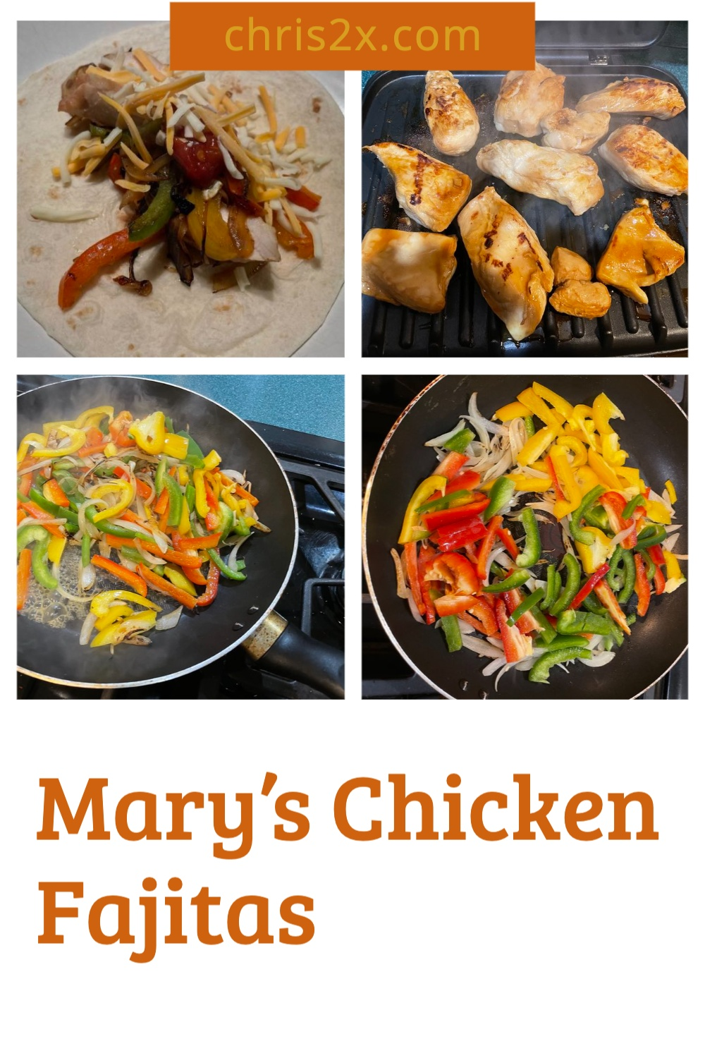 Mary's Chicken Fajitas Recipe | Tex-Mex #recipe #chicken #fajitas #tex-mex #mexican #main-course